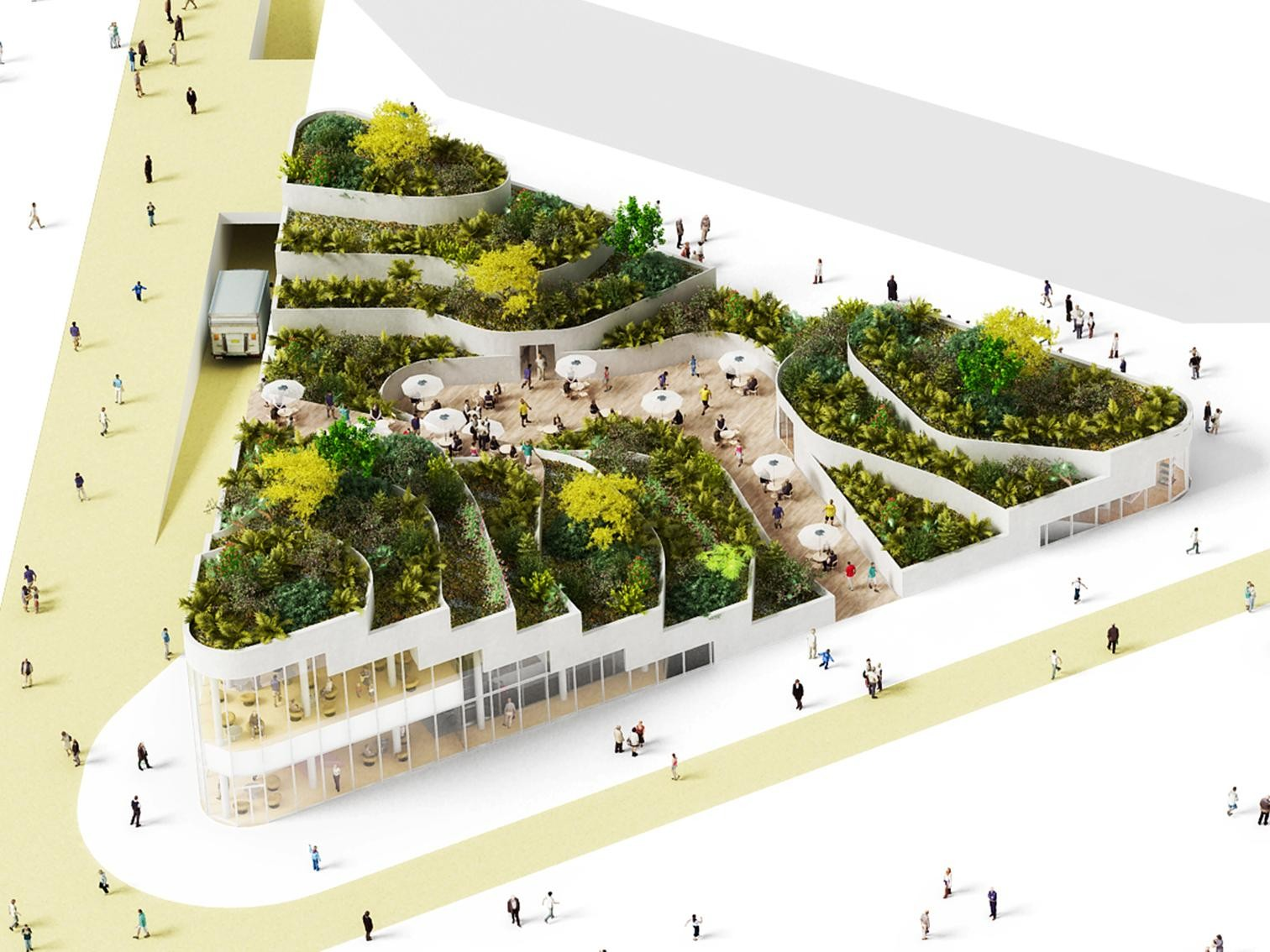 Sanya Lake Park Super Market Proposal / NL Architects, Courtesy of NL Architects