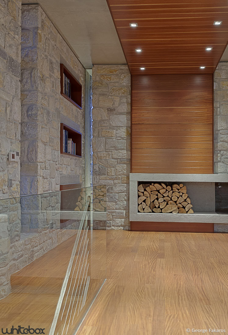 Gallery of stone house in anavissos whitebox architects 24 for Deco stone design for house