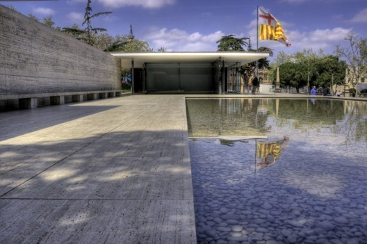The Barcelona pavilion, now an architectural icon but unnoticed in the beginning. Image © Flickr User CC Wotjek Gurak. Used under <a href='https://creativecommons.org/licenses/by-sa/2.0/'>Creative Commons</a>