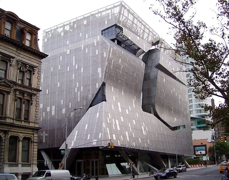The Indicator: Cooper Union, I Love You but You're Bringing Me Down, The architecture that sunk the architecture school. Thom Mayne's $111 million New Academic Building. Via Wikipedia