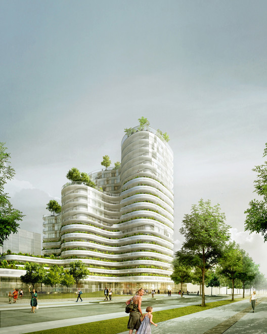 Housing Units in Nantes Winning Proposal / Hamonic + Masson, Courtesy of Hamonic + Masson