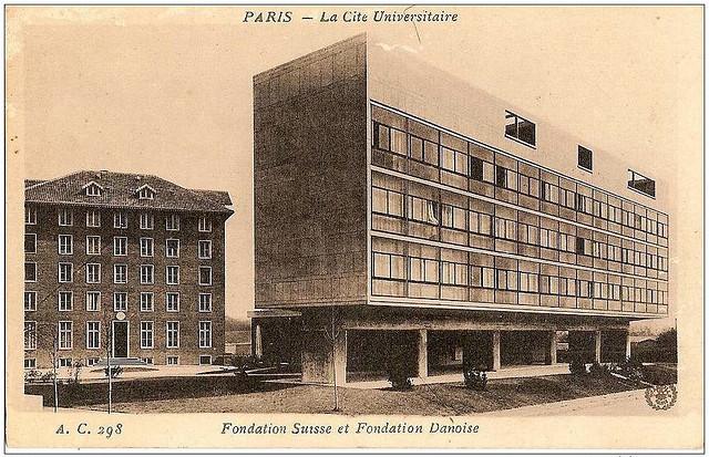 Gallery of ad classics swiss pavilion le corbusier 8 for Corbusier sessel 00 schneider