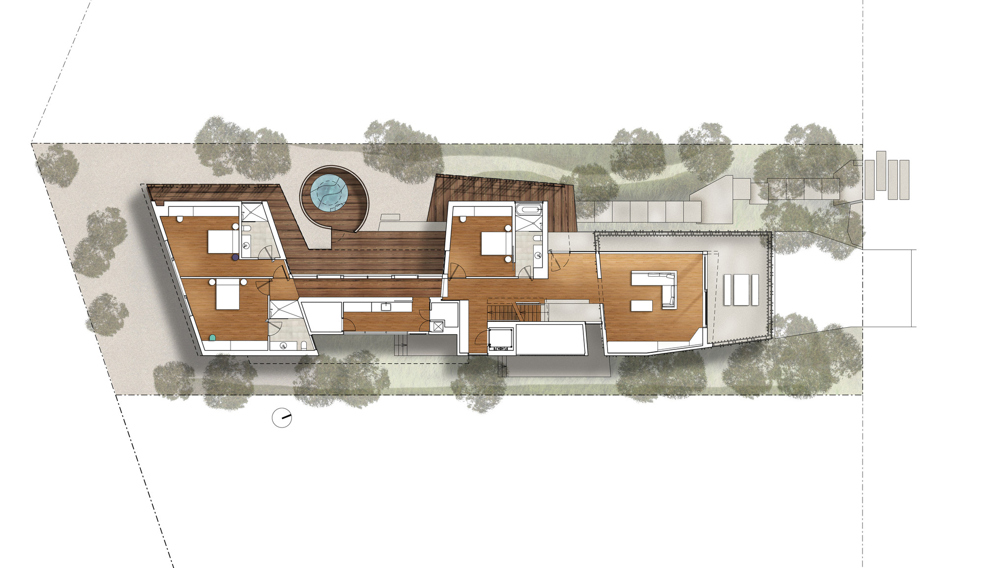 Gallery of queenscliff residence john wardle architects 15 for Deck plans and material list