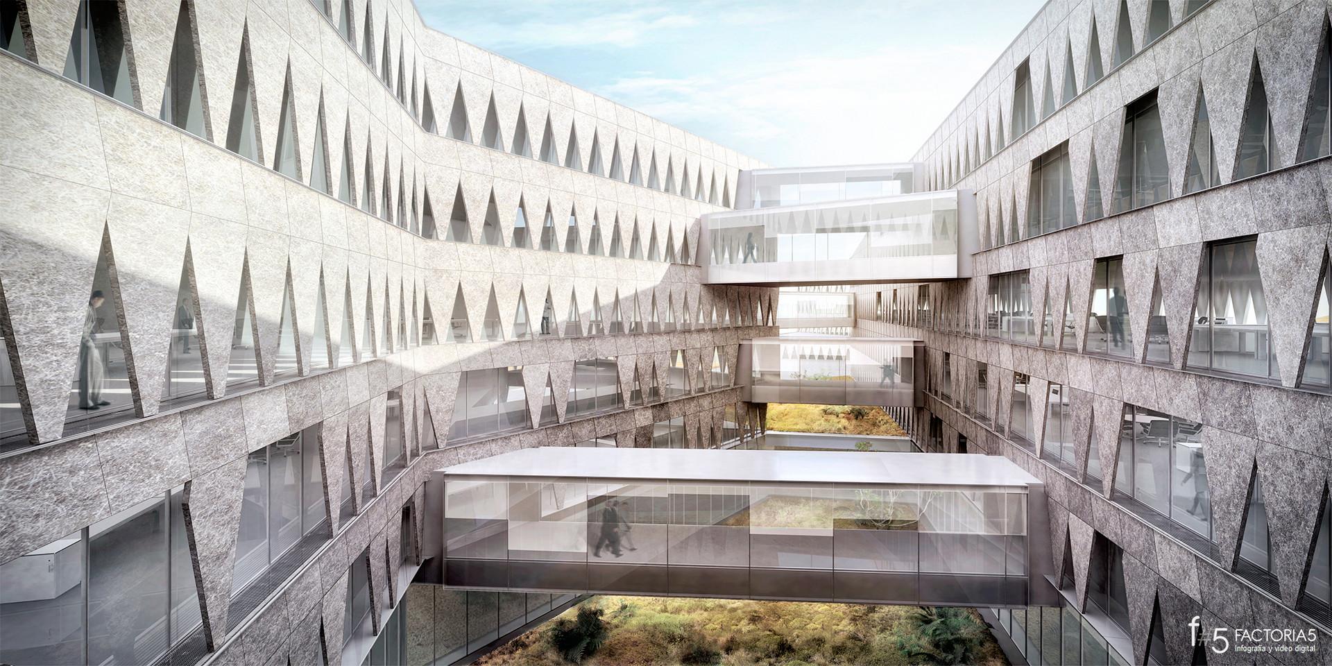 Visualización en Arquitectura / Factoría 5 Studio, Concurso Edificio Cajamar en el PITA - Mangado y Asociados