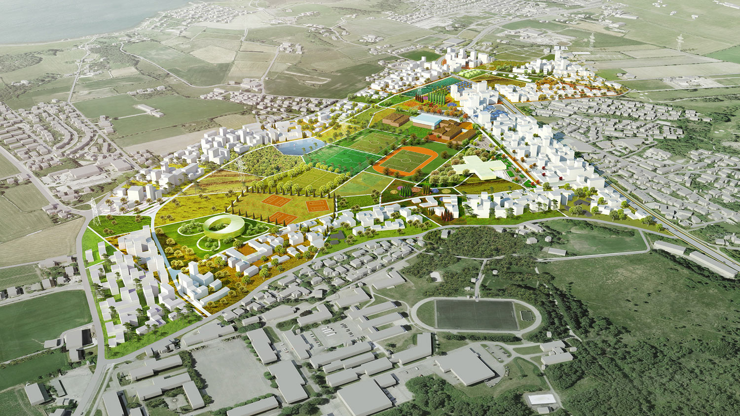 Madla-Revheim Masterplan Proposal / MVRDV + Space Group, © MVRDV + Space Group