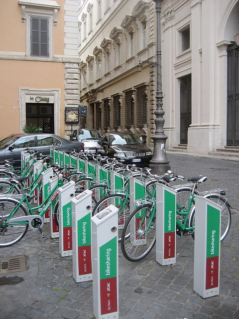 Bike-Share in Rome; © Flickr User DearEdward; Licensed via Creative Commons