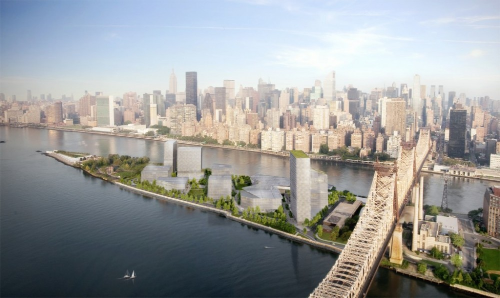 Council Approves Cornell's Net-Zero Tech Campus on Roosevelt Island, © Kilograph