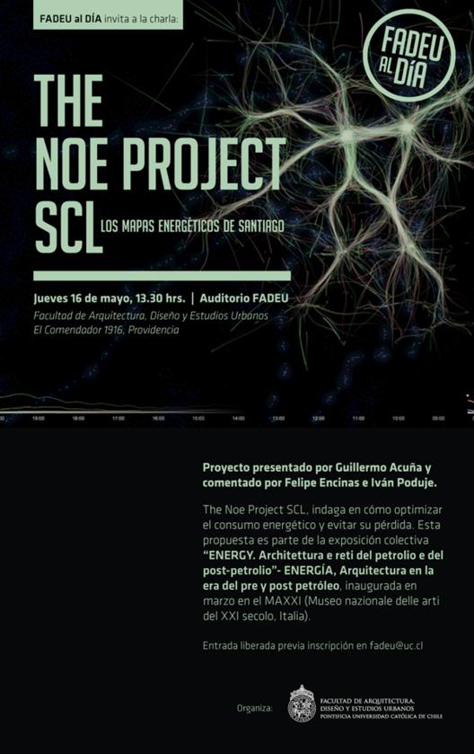 Conferencia: The Noe Project SCL, Los mapas energéticos de Santiago