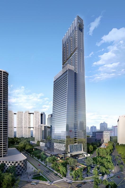 El Tanjong Pagar Centre de SOM será pronto la torre más alta de Singapur, © SOM | Design Mirage