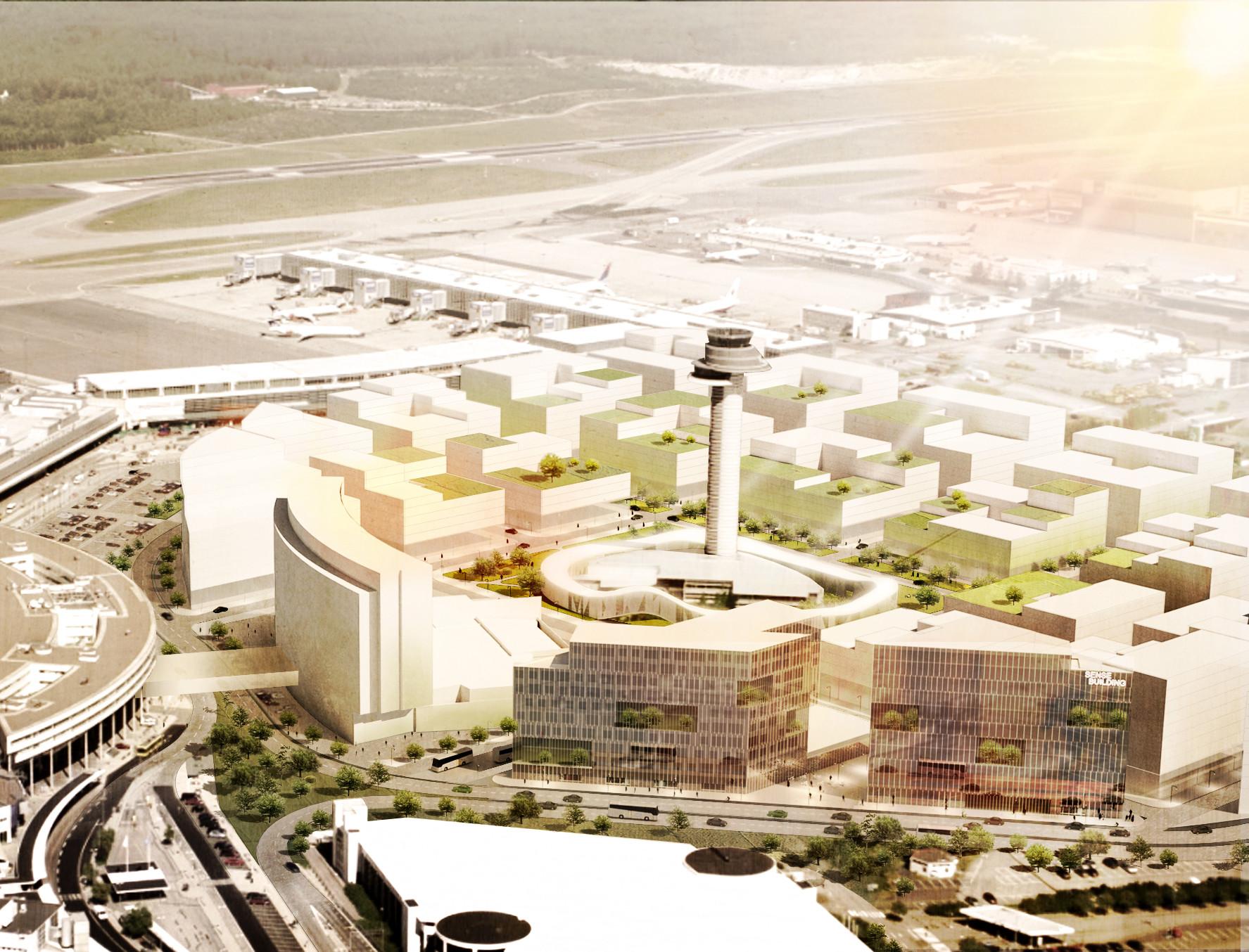 Airport City Stockholm Urban Design Strategy Proposal / Spacescape, Courtesy DinellJohansson & Spacescape