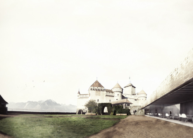 Château of Chillon Restaurant & Boutique Competition Entry / Mauro Turin Architectes, Courtesy of Mauro Turin Architectes