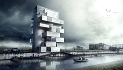 'BS25' Silos - Diving and Indoor Skydiving Center Proposal / Moko Architects