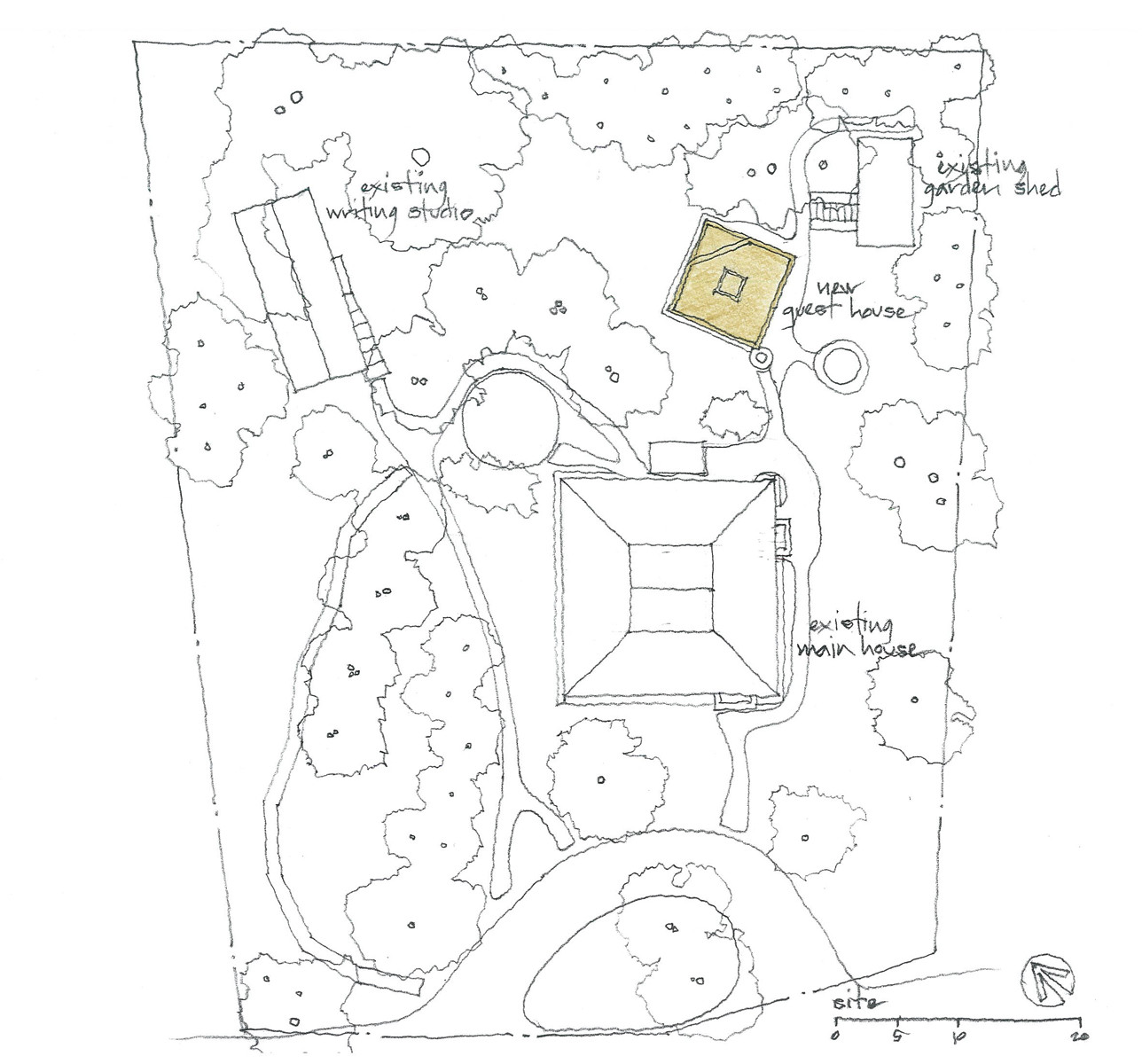 Site Plan. Gallery of Guest House   SMNG A Architects   8