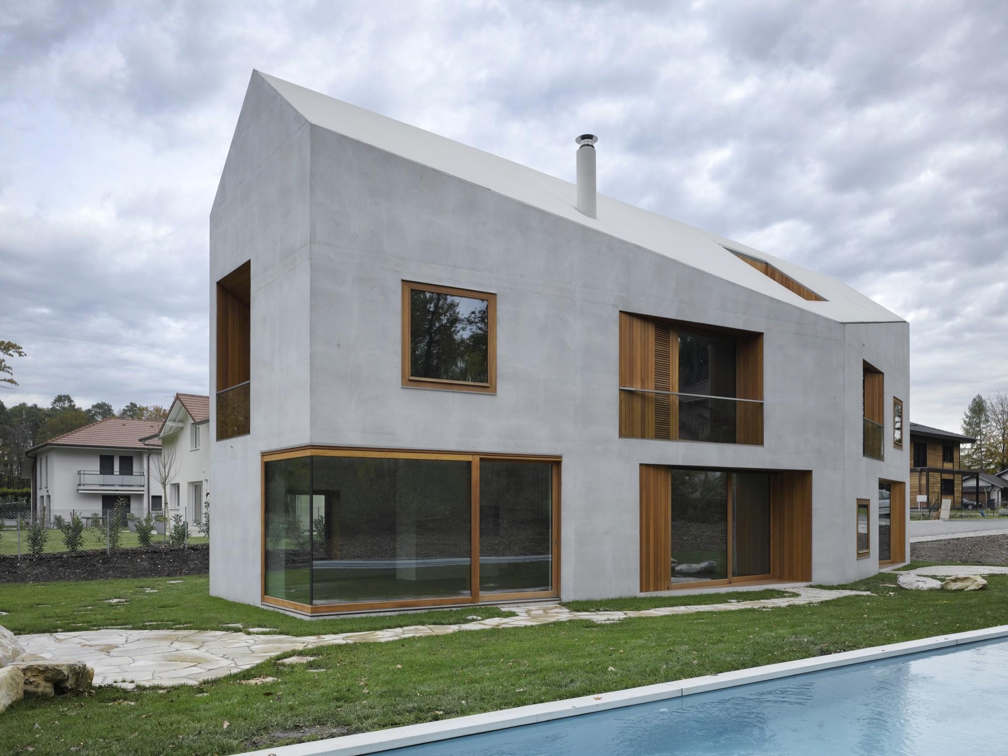 galeria de duas casas em uma clavienrossier architectes 2. Black Bedroom Furniture Sets. Home Design Ideas