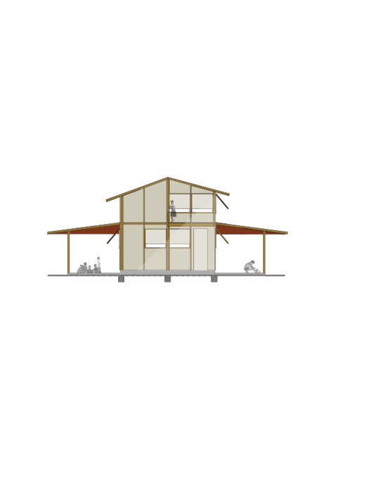 Corte, Casa de gran cubierta