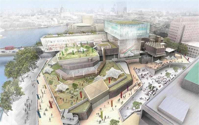 The design for the renovation of the Southbank Centre © Feilden Clegg Bradley