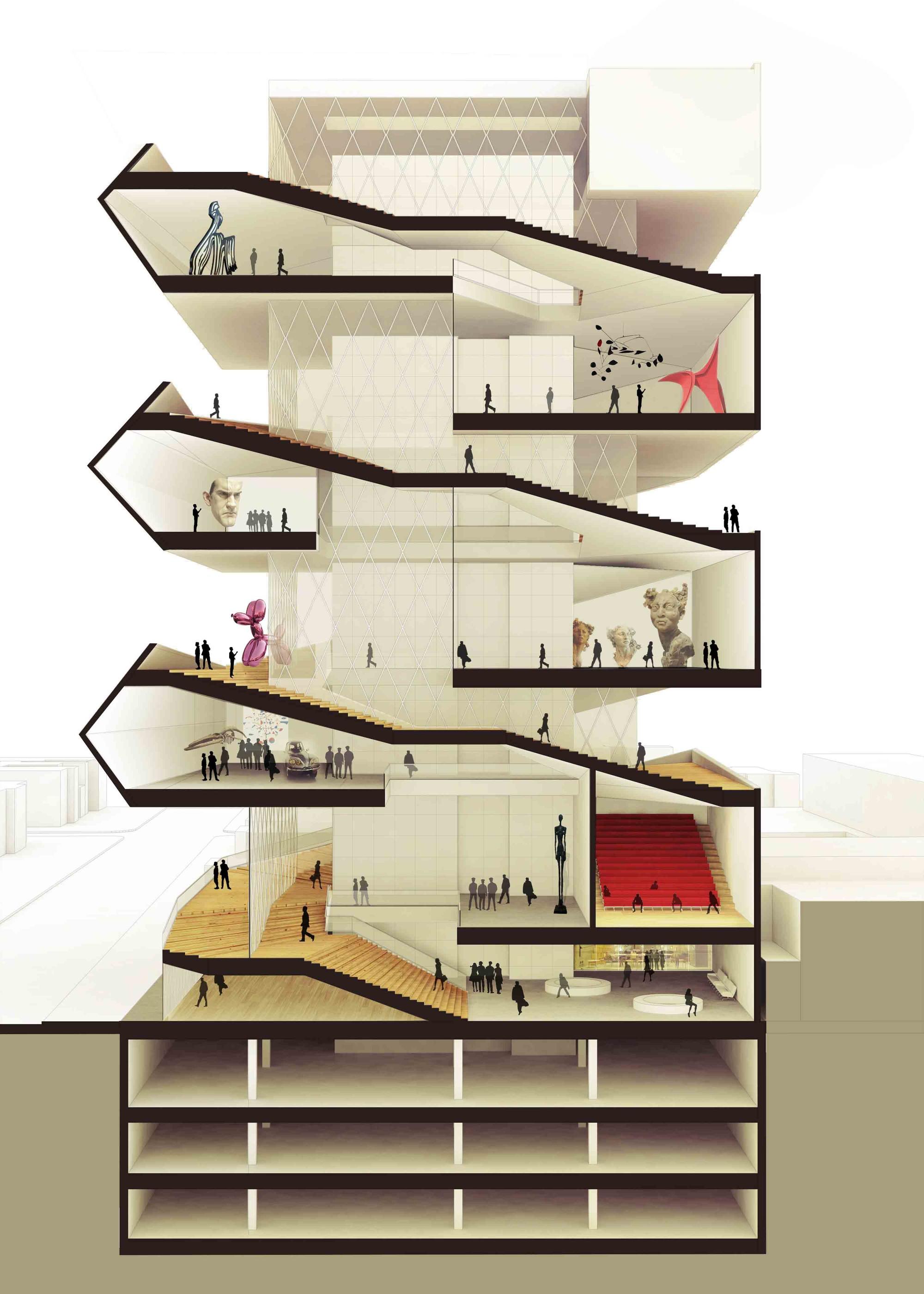 gallery of cultural center in guadalajara competition entry pm g architects 10. Black Bedroom Furniture Sets. Home Design Ideas