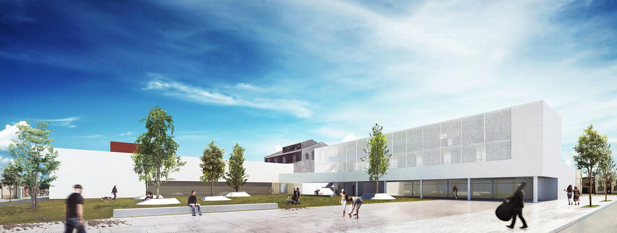 Primer Lugar Concurso Centro Educativo Cultural de la Ciudad de Diamante, Vista Exterior