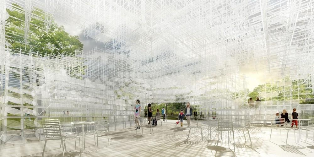 Serpentine Gallery Pavilion 2013 Diseñado por Sou Fujimoto, Interior Indicative CGI © Studio Cyrille Thomas for Sou Fujimoto Architects