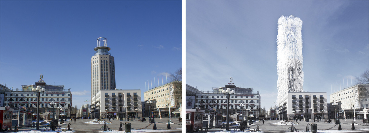 Before and After; Strawscraper / Belatchew Arkitekter