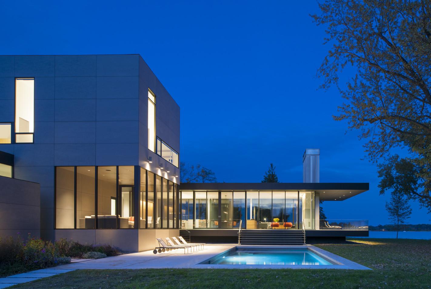 Gallery of tred avon river house robert m gurney - Pavillon residentiel moderne gurney architecte ...