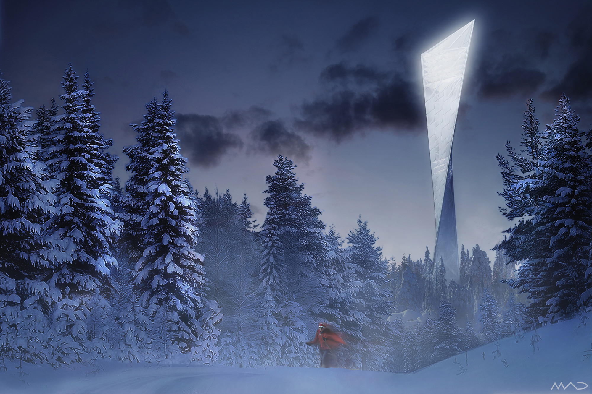 New Tryvann Tower Proposal / MAD Arkitekter, Courtesy of MAD Arkitekter