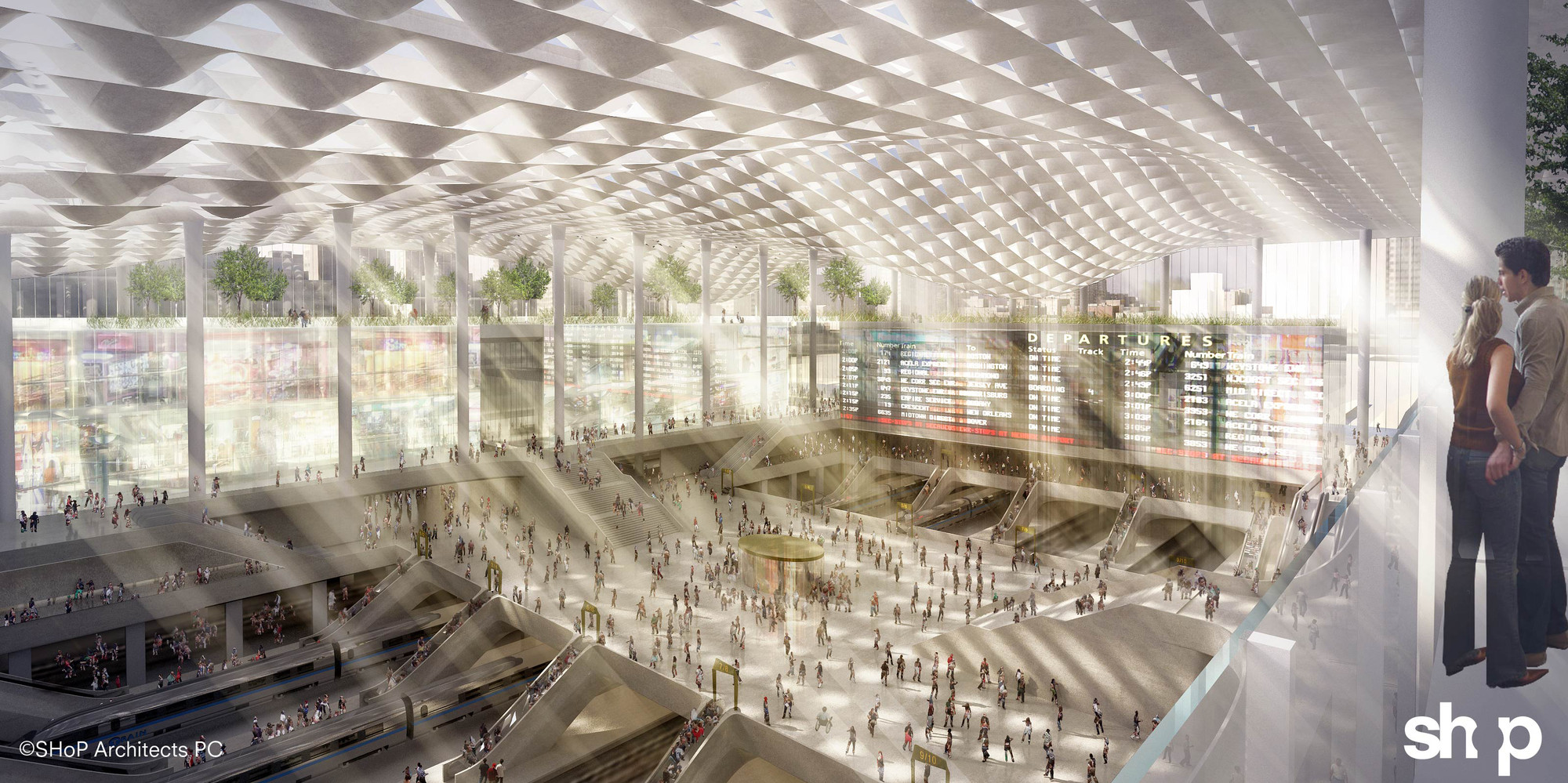 Penn Station, Re-Imagined, Courtesy of SHoP