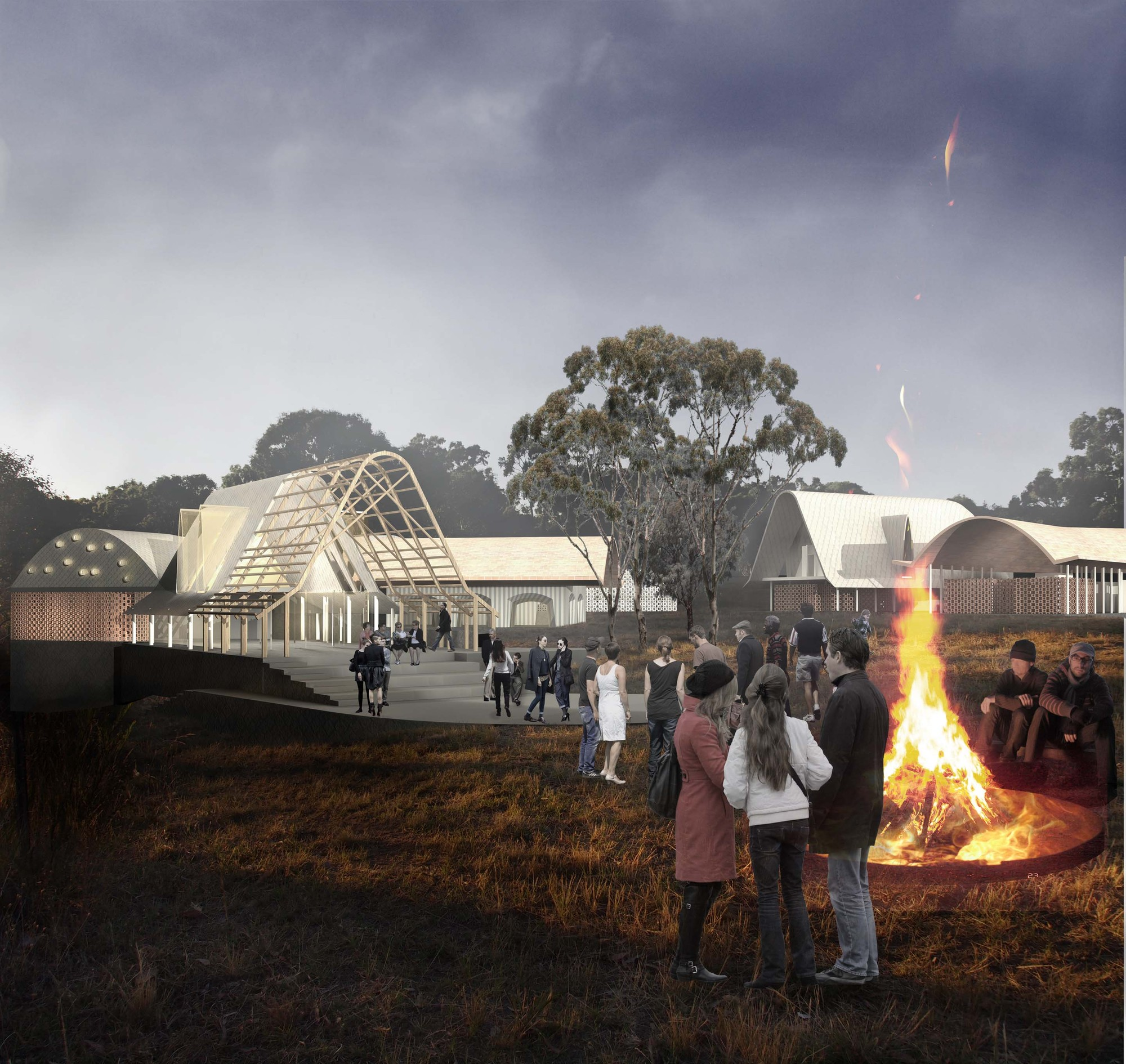 'The Lodge on the Lake' Competition Entry / Stephen Collier Architects, Courtesy of Stephen Collier Architects