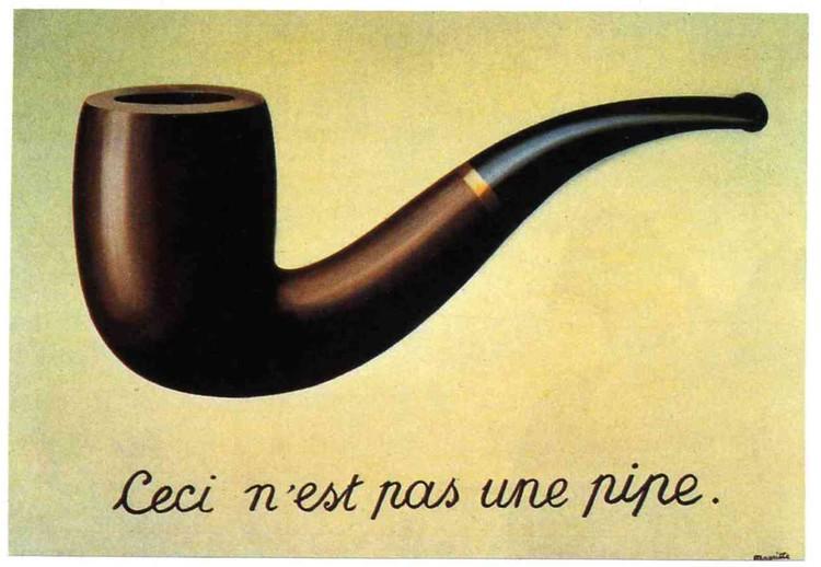 Arquitectura, Conocimiento y Escritura: ¿cómo abordar un hecho arquitectónico a través de palabras?, © Magritte