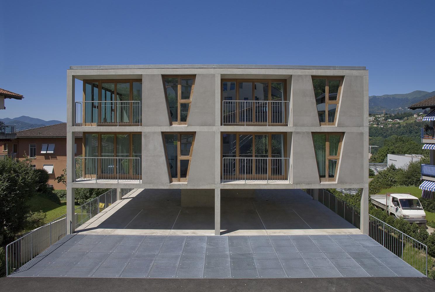 Gallery Of Apartment House In Pregassona  Architetti Pedrozzi - 4 apartment house