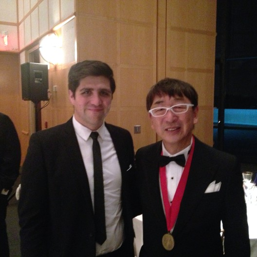 ArchDaily Editor in Chief David Basulto with Pritzker Laureate Toyo Ito