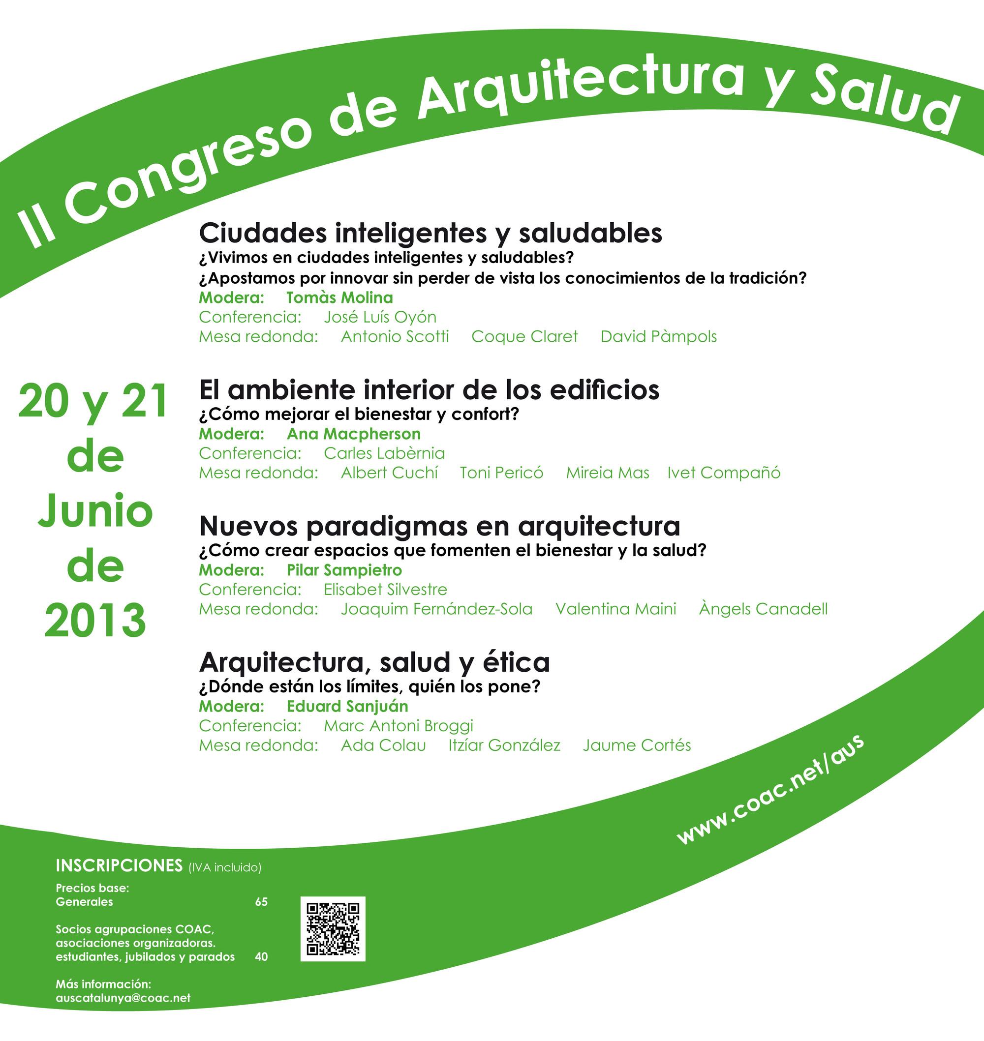 II Congreso Arquitectura y Salud / COAC Barcelona