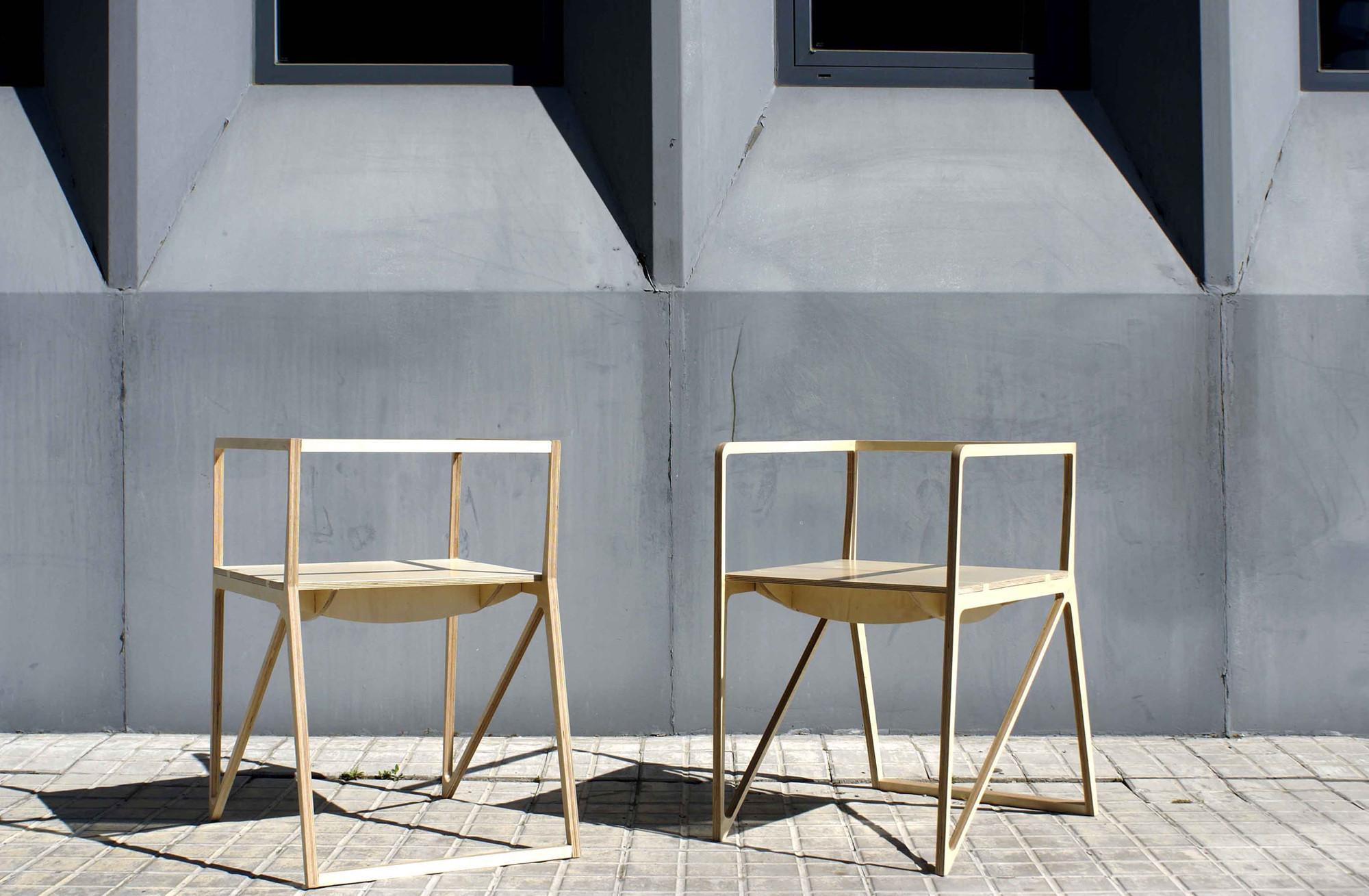silla brace ignacio hornillos design studio archdaily