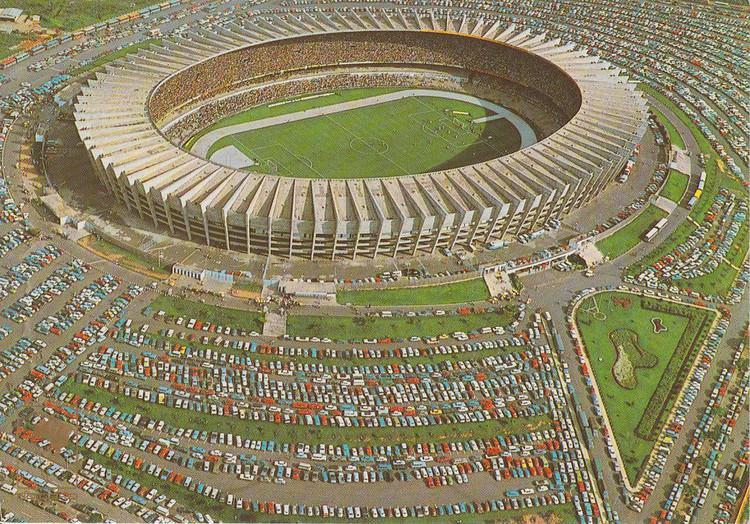 Estádio Mineirão em 1970 © Coleção Museu Abilio Barreto