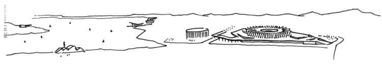 "Croquis Complejo de Pampulha - BCMF Arquitetos ""d'après"" Oscar Niemeyer"