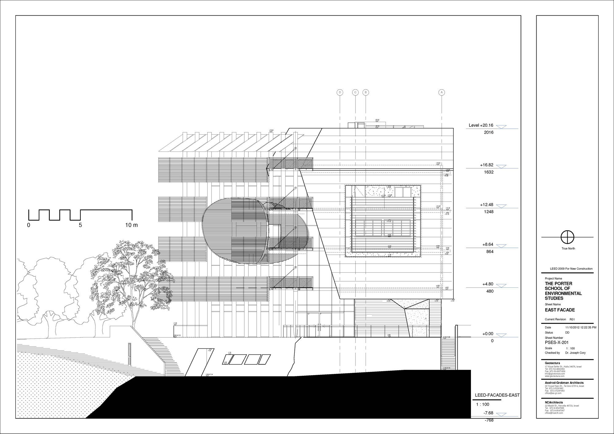 East Facade; Courtesy of Geotectura, Axelrod-Grobman Architects, NCArchitects
