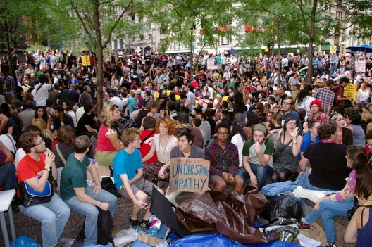 Occupy Wall Street Movement in Zucotti Park