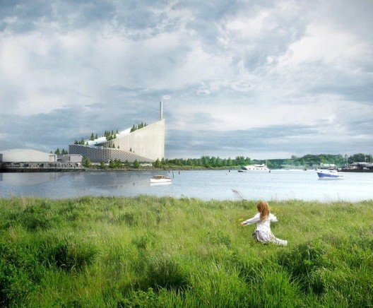 Rendering of BIG's Waste-to-Energy Plant. Image Courtesy of BIG.