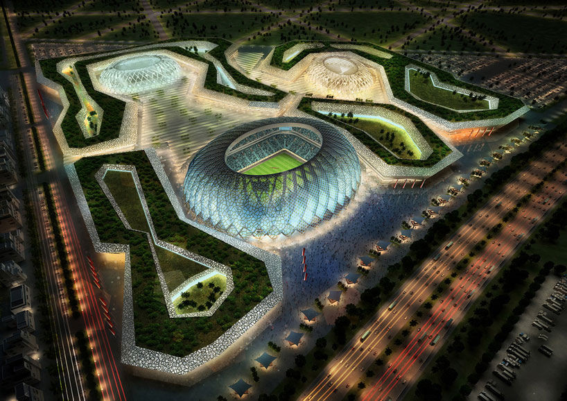 Zaha Hadid Architects + AECOM to Design 2022 FIFA World Cup Stadium in Qatar, © HHvision architektur visualisierung