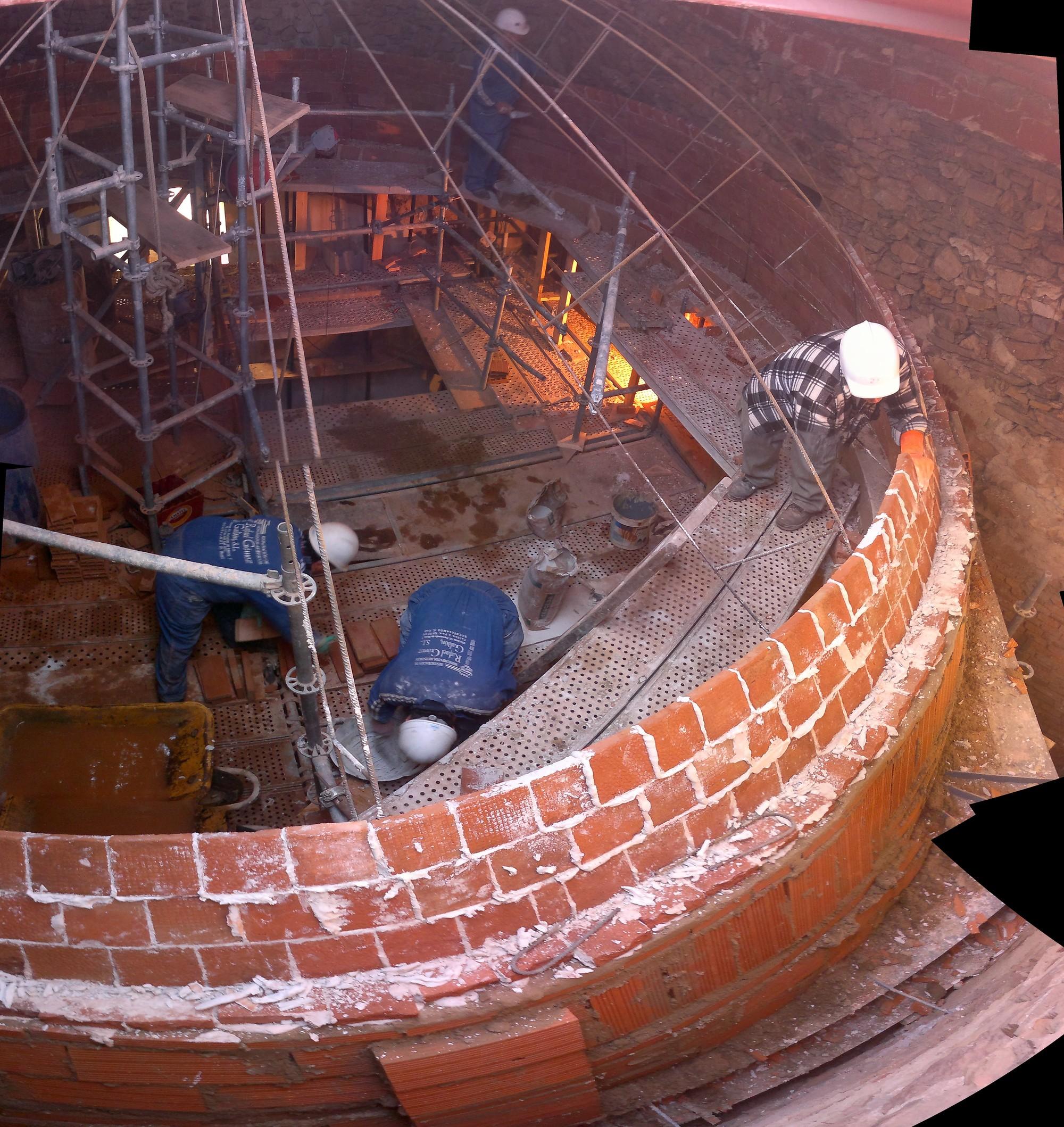 En Detalle: reconstrucción en albañilería de la Cúpula de la Iglesia Parroquial de Valverde de Los Arroyos, Cortesía de Julio Jesús Palomino