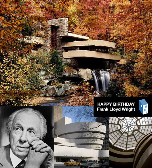 Happy 146th Birthday Frank Lloyd Wright, Image of Fallingwater © Robert Ruschak - Western Pennsylvania Conservancy.