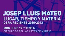 IE Master in Architectural Design Lecture Series: Josep Lluís Mateo