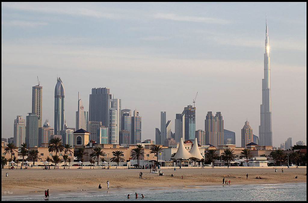 Dubai Skyline; Flickr User rickz; Licensed via Creative Commons