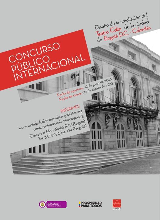 Concurso Internacional: Ampliación del Teatro Colón de Bogotá, Colombia