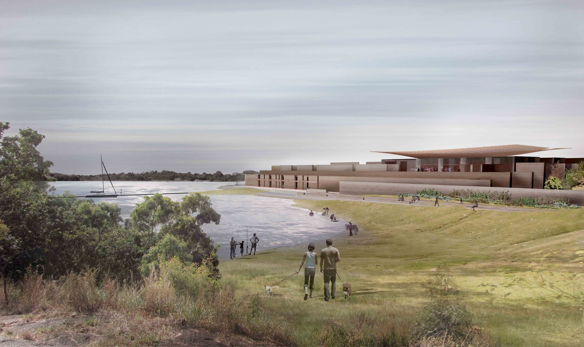 'The Lodge on the Lake' Third Prize Winning Proposal / Nic Moore + Monica Earl, Courtesy of Nic Moore + Monica Earl