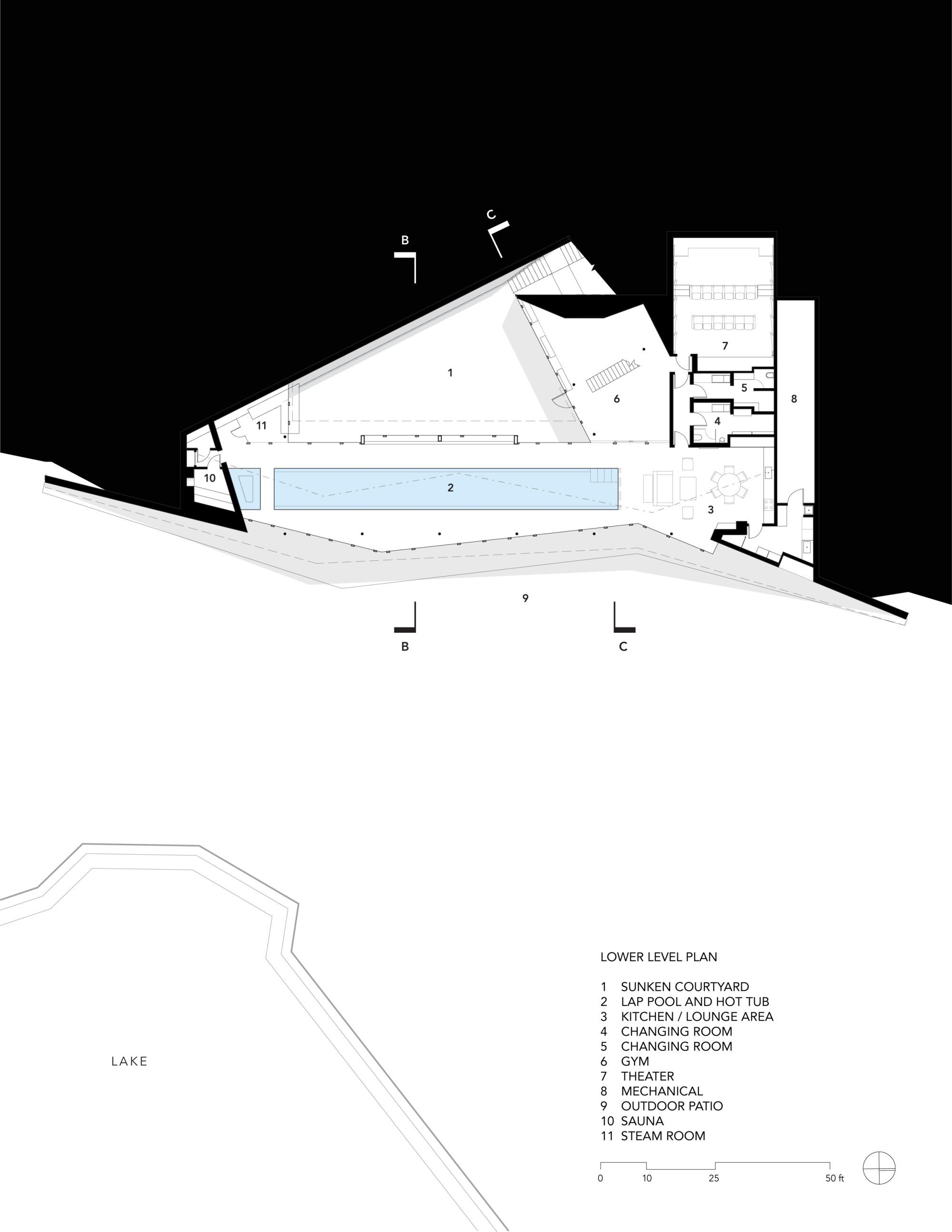 Gallery of pool pavilion gluck 11 for Pool pavilion plans