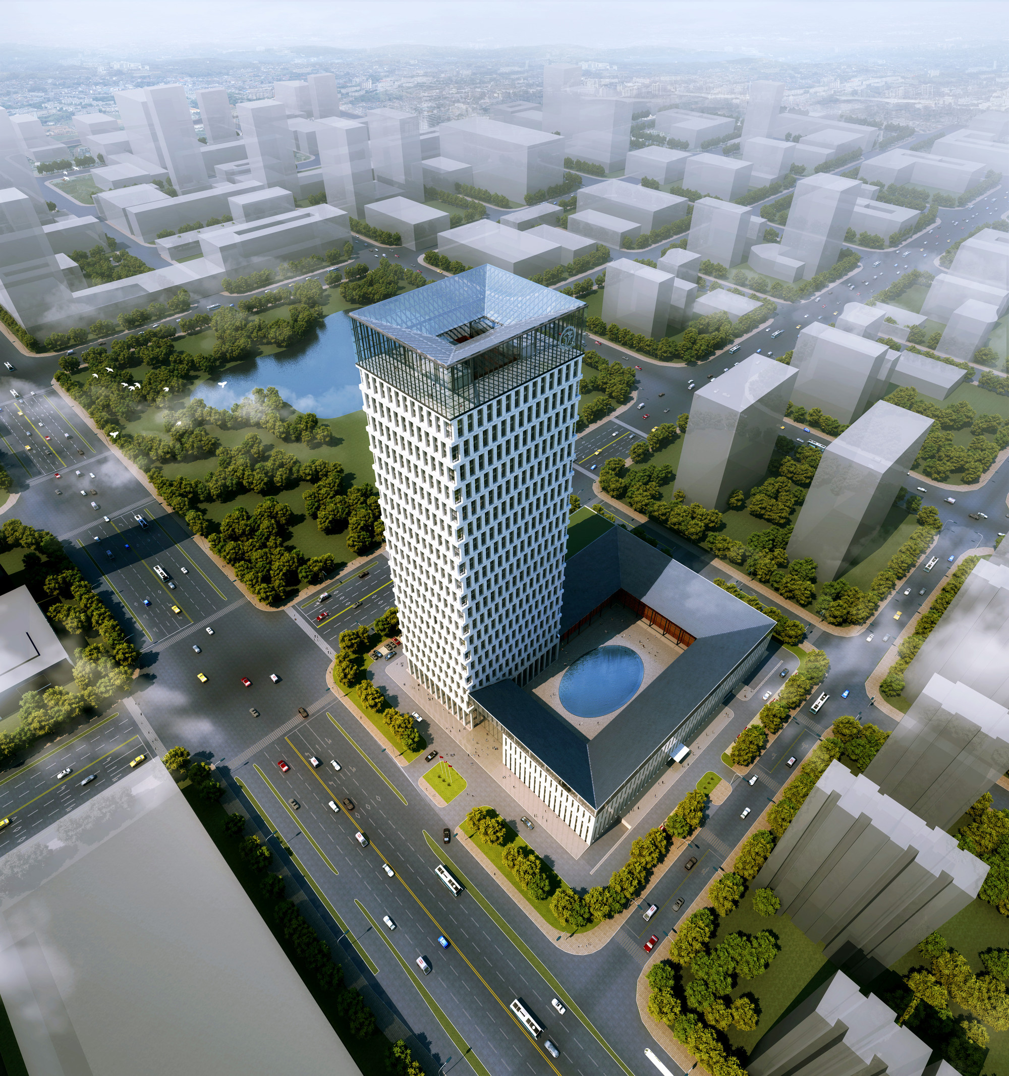 Huishang Bank Headquarters,Courtesy of Y Design Office