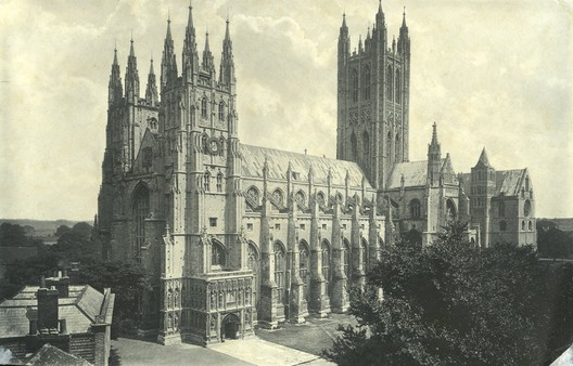 SW Wide View of Canterbury Cathedral