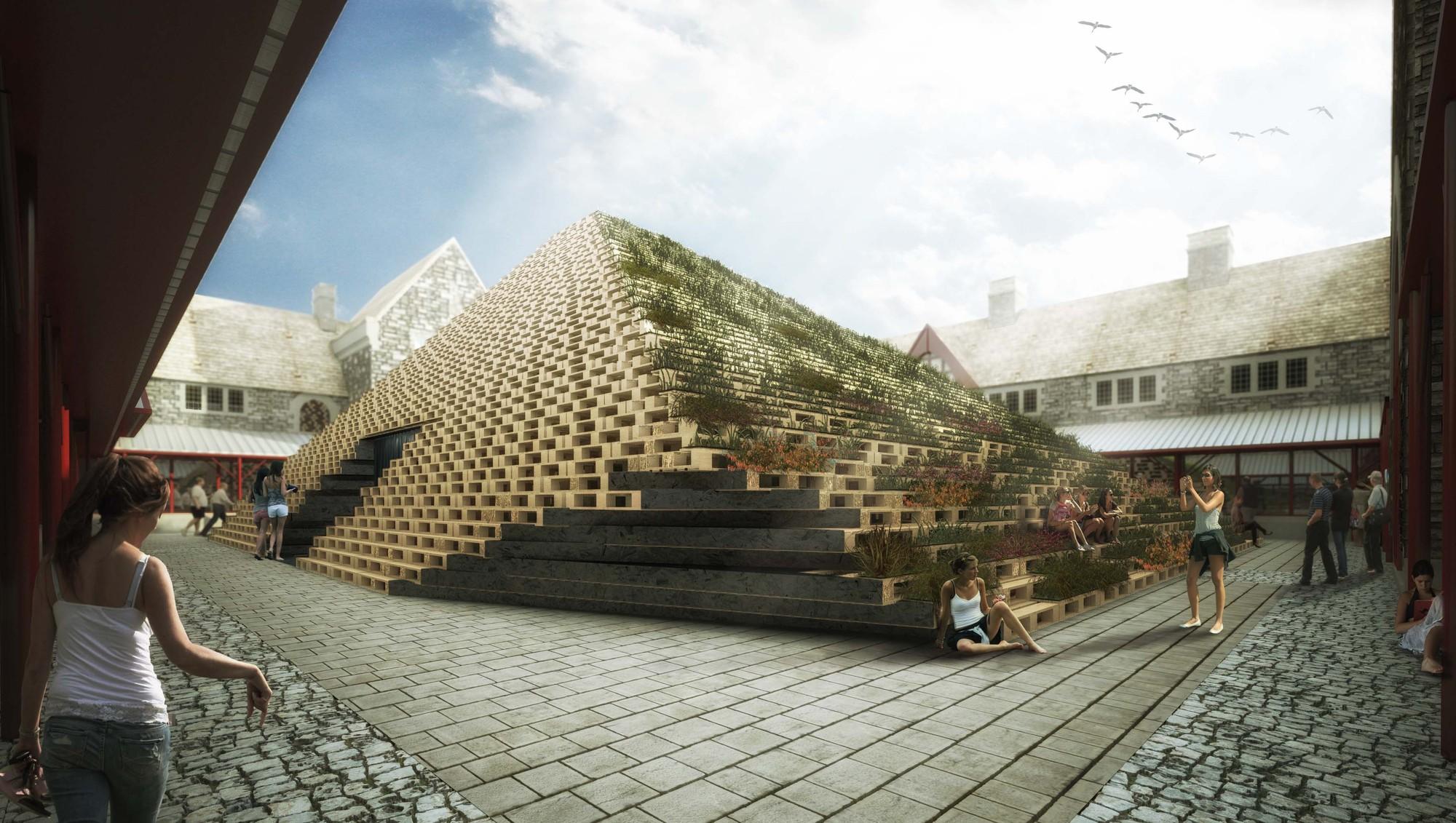 Propuesta de Teatro Temporal Sustentable / PM²G Architects, © 3D Veron