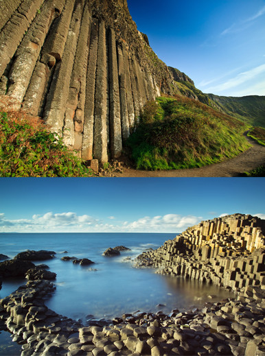 "Giant's Causeway in Northern Ireland. A good example of ""emergence,"" when complex structures are created by natural processes. Images by Stefano Viola and Horia Bogdan via shutterstock.com"
